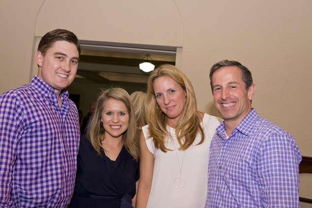 Patrick and Emily Samuels, from left, and Melinda and Matt Mogas at the Camp for All event September 2014