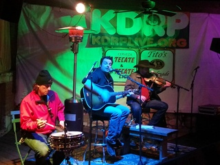 musicians performing at KDRP Live at Guero's