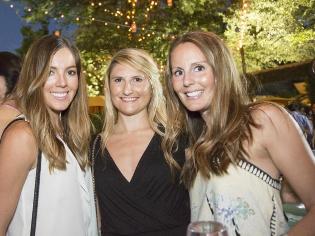Lauren Klein, Holly Colvin, Rachel Kent, white party kick off