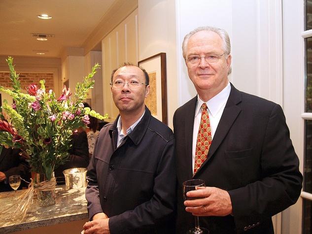Michael Mann, left, and Baocai David Fang at the Da Camera Opening Night party October 2013