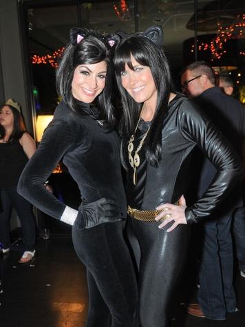 3 Carla Pampolina, left, and Tiffany Halik at Hotel ZaZa's Halloween party October 2013