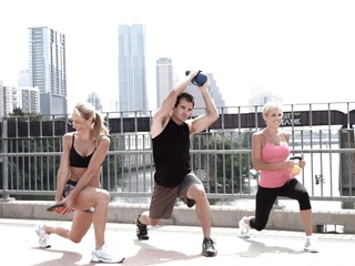 CoreFit Austin on walking bridge