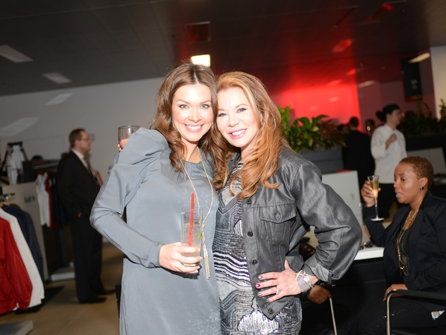 Jentry Kelley, left, and Cindi Rose at the Audi Central Houston grand opening March 2014