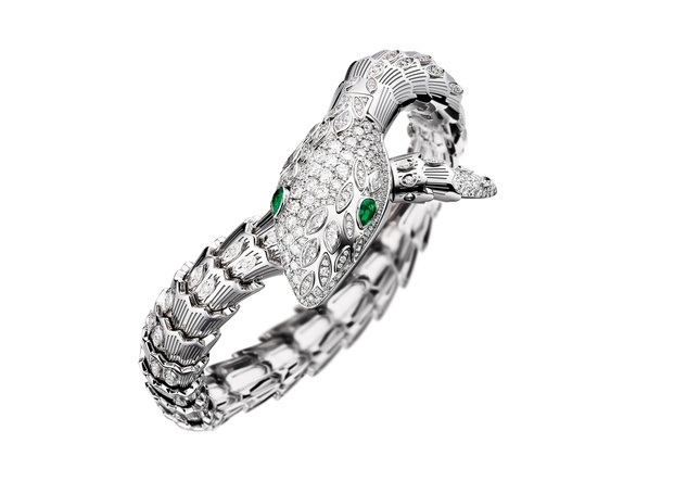 Bulgari Serpenti high jewelry watch at Zadok