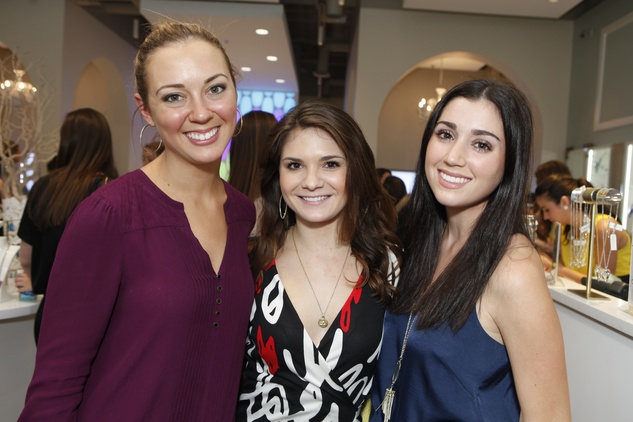 7 Katy Ellis, from left, Christina Lombana and Tessa DelGrande at WOW with Kendra Scott October 2014