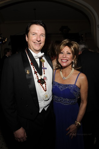 Tony and Lisette Brown at the Knights of Momus Ball February 2015