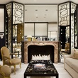 Chanel Houston boutique ready to wear salon with fireplace