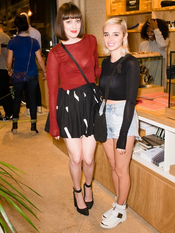 Amanda Reed, Leah Leybovich at Steven Alan store opening in Dallas