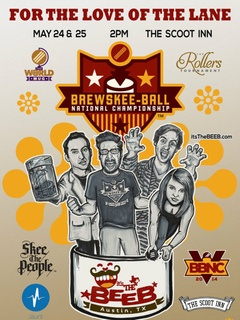 poster for 2014 Brewskee-Ball National Championship at Scoot Inn