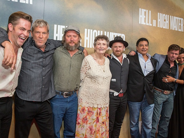 Hell or High Water Austin premiere Alamo Drafthouse red carpet cast Chris Pine Jeff Bridges, David Mackenzie Margaret Bowman Ben Foster Gil Birmingham Taylor Sheridan Katy Mixon