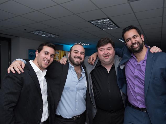Jason Goldstein, Shawn Golan (YAD Legacy Event Co-Chair), Ziggy Gruber (Event Emcee), Josh Benporat (YAD Legacy Event Host Committee Member)