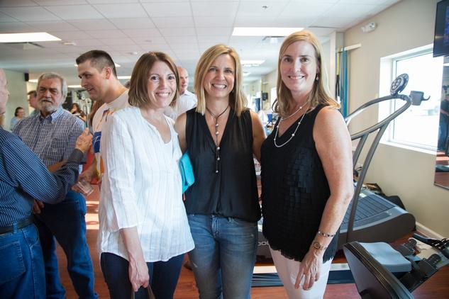 News, Shelby, Luv Ya Blue party, August 2015, Cindy Keene, Judy Stanley, Angela Koch.