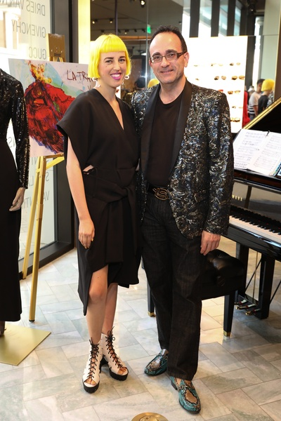 Patricia Resterpo, Michael Yafi at Houston Grand Opera party at The Webster