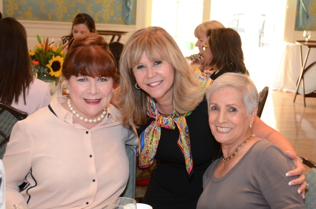 100 Barbara Van Postman, from left, Cyndy Garza Roberts and Alicia Booth at the Latin Women's Initiative Luncheon October 2014