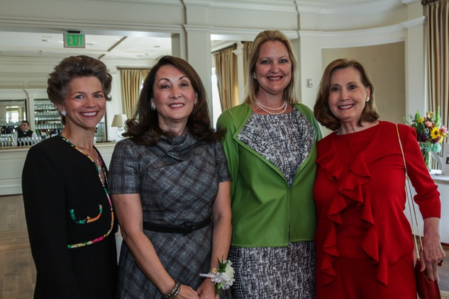 Bain Pearson Pitts, from left, Penny Loyd, Joella Mach and Reda Martin at the Huffington Center on Aging luncheon October 2014
