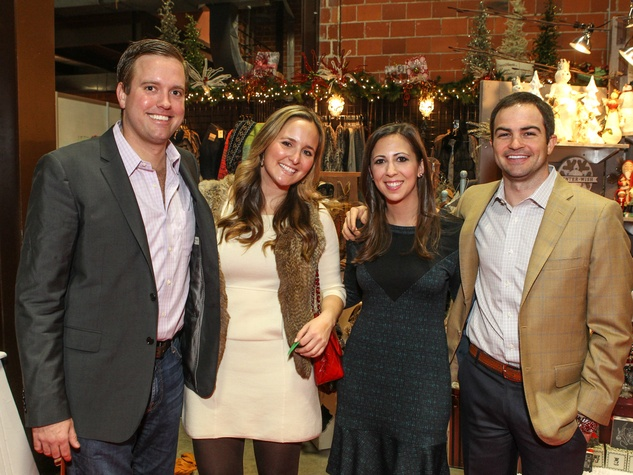 Jeff Quilhot, Leigh Morehouse, Kathryn Reddell and Blake Ramsey, Chi O Christmas Market