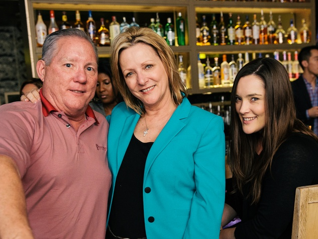 6 Mike and Michele Maerz, from left, with Christina Maerz at CityCentre Night Out with CultureMap April 2014