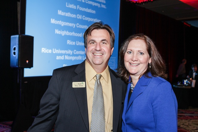 Brian Greene and Diane Englet at the National Philanthropy Day Awards November 2014