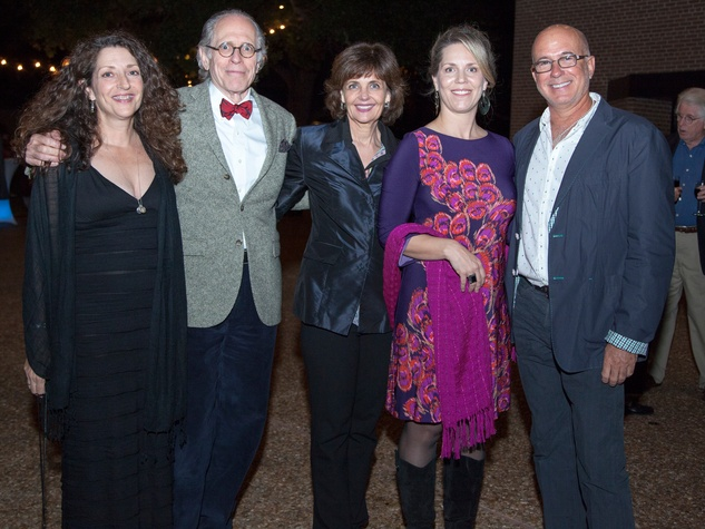 Raye Rath, from left, Lex Gillan, Cathy Nunnally, Emilee Whitehurst and Michael Piana at Rothko Chapel's Moonrise Party on the Plaza October 2013