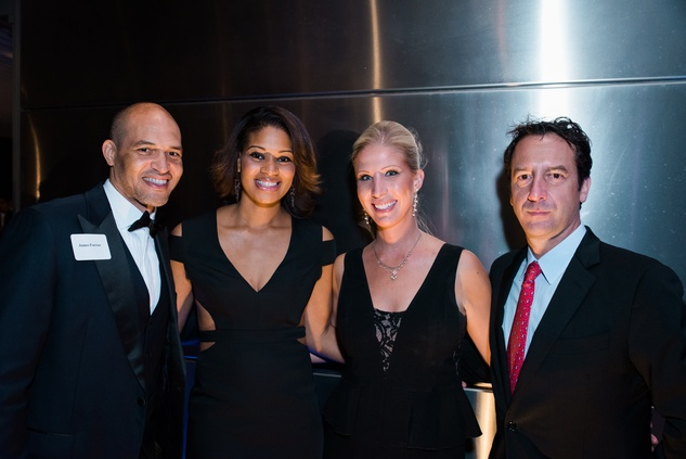 News, Houston Young Lawyers, holiday party, Dec. 2016, James and Iman Farrior, Rebecca Phelps, Eric Cassidy