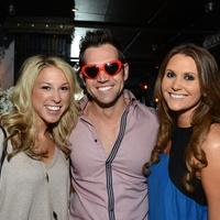 7 47 Megan McDonald, from left, Zak Waddell and Alana Skinner at the American Heart Association Bachelor Party February 2014