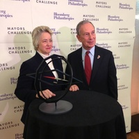 Mayor Annise Parker, Mike Bloomberg