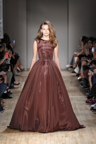 Jenny Packham spring 2015 collection brown ballgown