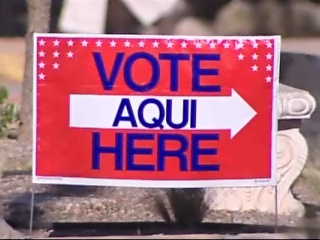 AISD bond package vote here sign