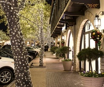 Holiday lights at Highland Park Village