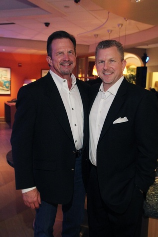 15 Randall Sutton, left, and Terry Sears at the Mercedes-Benz of Sugar Land Cystic Fibrosis Event October 2014