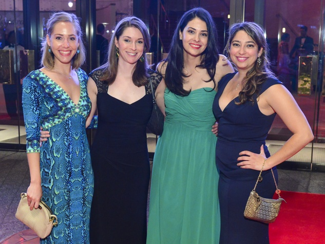 2061 Haley Huckin, from left, Jessica Johnston, Marisol Urrutia and Laila Sorurbakhsh at the Houston Symphony Centennial Ball after party May 2014