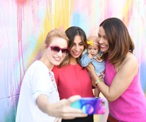 Traci Ling, Sukaina Rajani, Elle Hogan, Carrie Colbert at More Color Please Launch