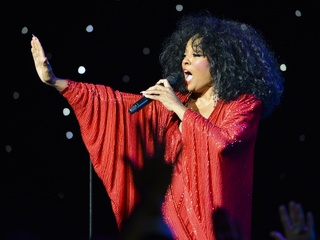 Diana Ross at Liasions au Louvre gala in Paris June 2013