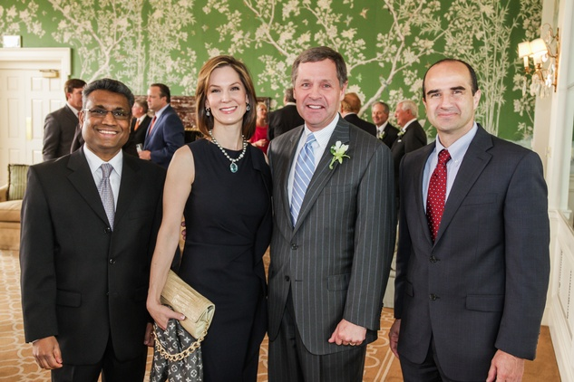 10 Dr. Sundararajah Thevananther, from left, Kathy and Paul Murphy and Dr. Richard Kellermayer at the Men of Distinction luncheon May 2014