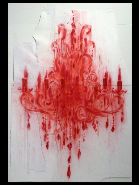 Texas Contemporary Art Fair, show artwork, October 2012, James Drake - Red Chandelier, BLACK SPACE