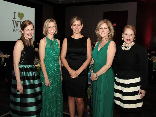 Nancy Kate Prescott, from left, Megan Morris, Amanda McGee, Donna LaMond and Kara Sanders at West University Park Lovers Ball February 2014