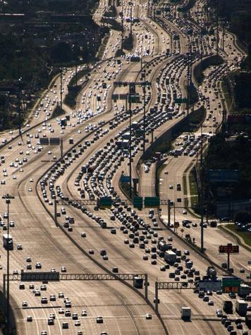 Katy Freeway highway Interstate 10 traffic traffic jam March 2014