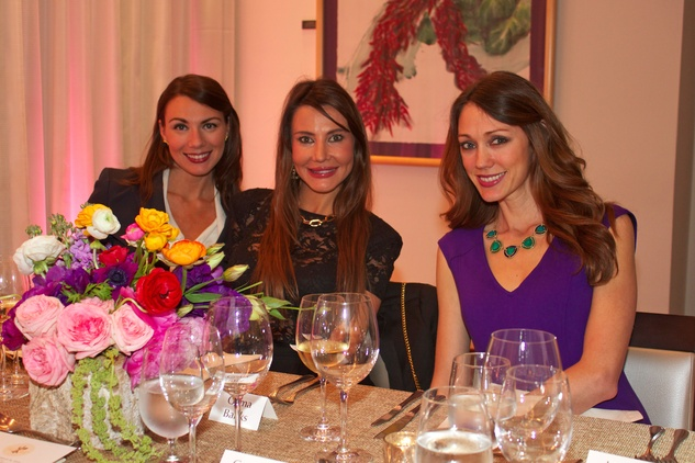 5 Kimberley Thames, from left, Gema Banks and Leslie Sharp at Dress for Dinner March 2014