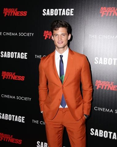 Ferragamo spring suit worn by Garrett Neff