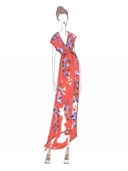Fashion Week spring summer 2014 Whitney Pozgay of WHIT sketch