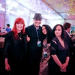 044 Karin Adrian von Roques, from left, Hamza Serafi, Raja Alem and Shadia Alem at the FotoFest opening party March 2014