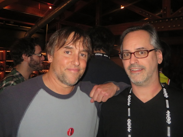 Richard Linklater and Jeffrey Radice at Austin film party at Sundance Film Festival January 2013