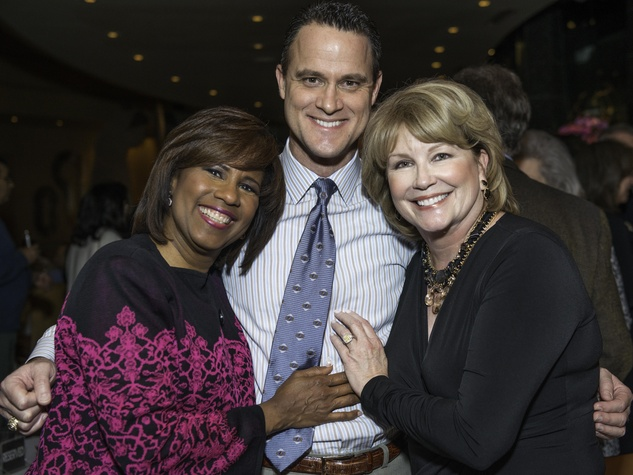 News, Shelby, Dave Ward Party, Dec. 2014, Melanie Lawson, Greg Bailey, Jan Carson
