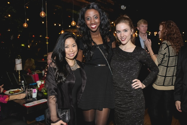 Becky Hollands, from left, Devon Sells and Carri Green at the Page Parkes & Ruggles Black Holiday Soiree December 2014