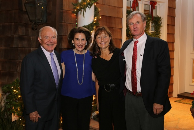 News, Shelby, Alley Theatre Holiday Party, December 2014, George Stark, Lois Stark, Connie Plank, Roger Plank