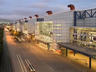 George R. Brown Convention Center at night May 2013