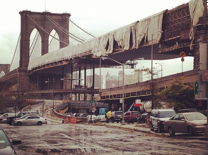 Hurricane Sandy, Brooklyn Bridge, October 2012