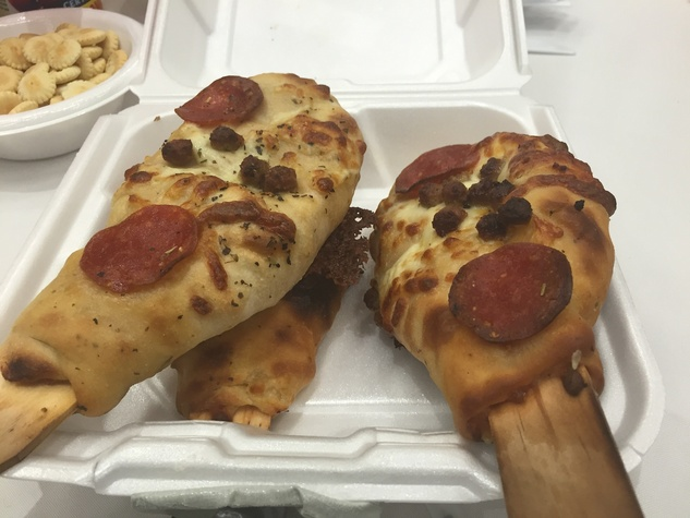Rodeo Gold Buckle pizza on a stick