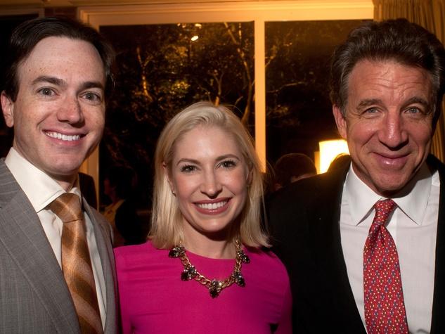 3 Danny and Isabel David, from left, with Steve Wyatt at the Lynn Wyatt reception at Menil House December 2013