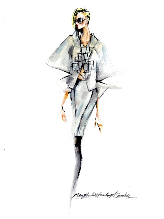 Fashion Week spring 2015 sketch Sept. 2014 Angel Sanchez Spring 2015 Inspiration 2